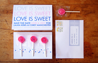 Lollipop Save the Date